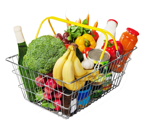 Basket groceries trans
