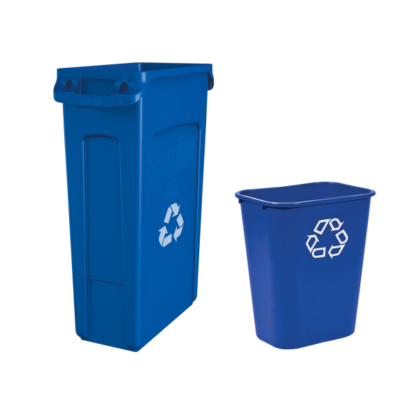 Business blue bin
