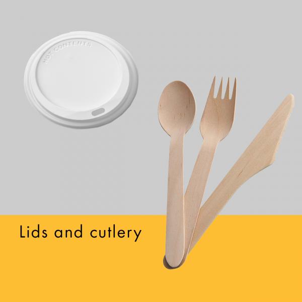 Web lids cutlery