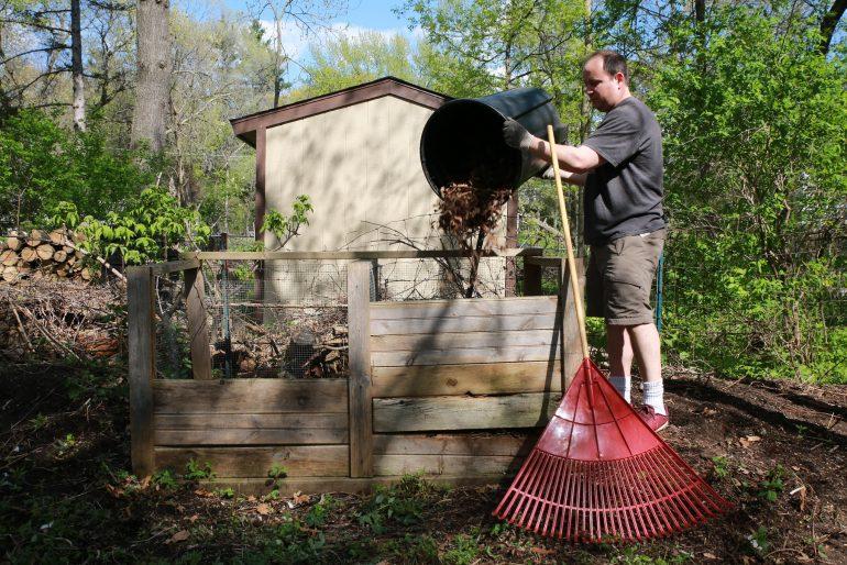 Backyard composting bins