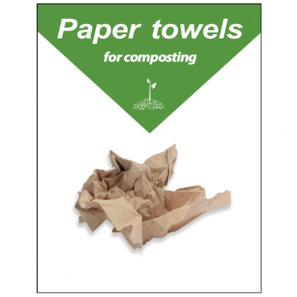 Compost paper towels only flyer 8 5 x 11 thumbnail