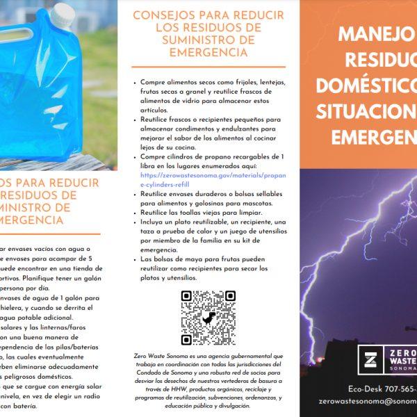 Thumbnail SPAN Emergency Household Waste Brochure Trifold Brochure