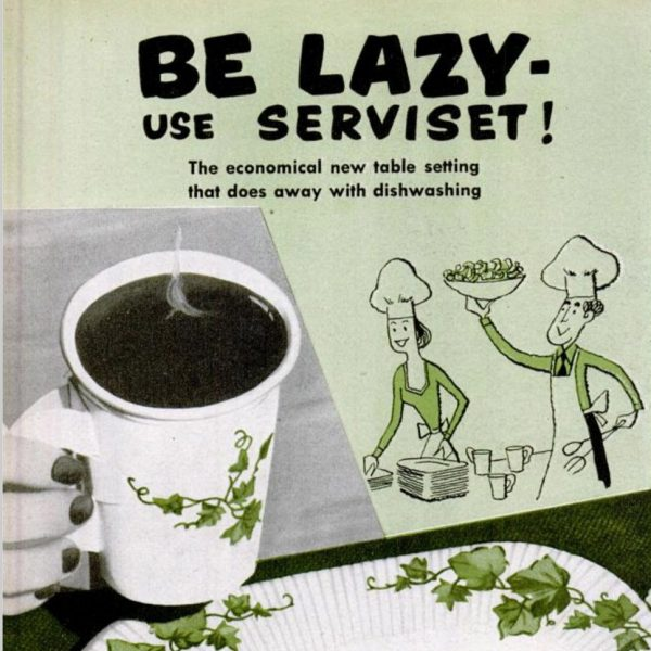 Disposable cup ad propaganda