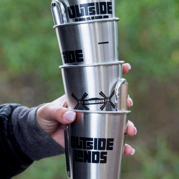Outside lands reusable metal cup