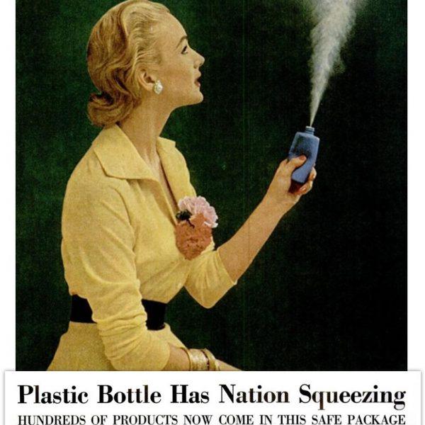 Disposable plastic bottle ad propaganda