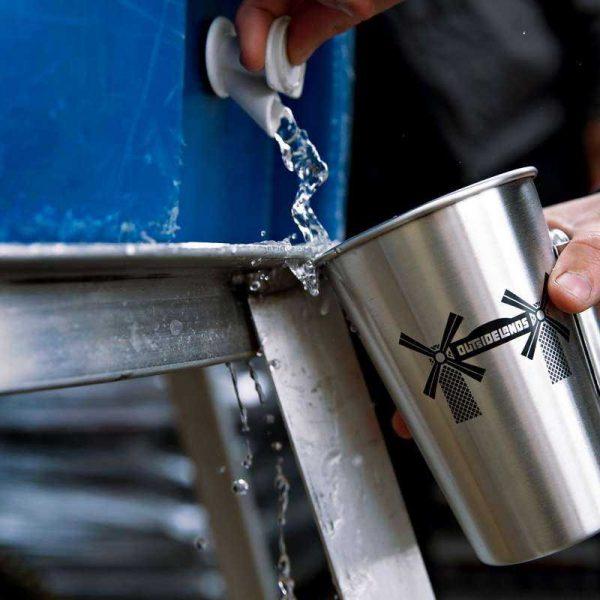 Refilling metal reusable cup